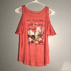 Girls Cold Shoulder Graphic Tee